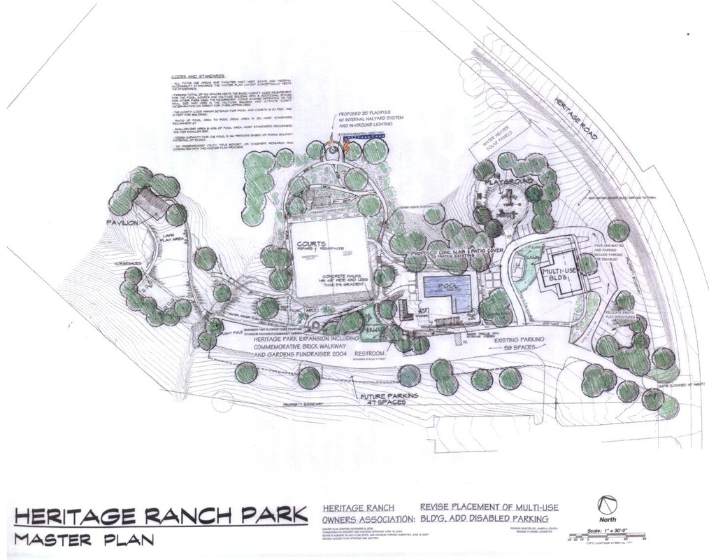 Click on Photo above to see an enlargement of Heritage Park Master Plan, adopted on July 13, 2007
